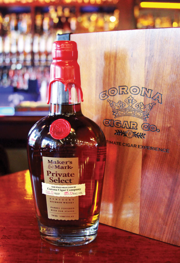 Corona Cigar Company was one of the first participants in the Maker's Mark Private Select program and formulated a stave combination that pairs perfectly with Florida Sun Grown cigars. [photo courtesy of Jeff Borysiewicz]  Maker's Mark Wood Finishing Series