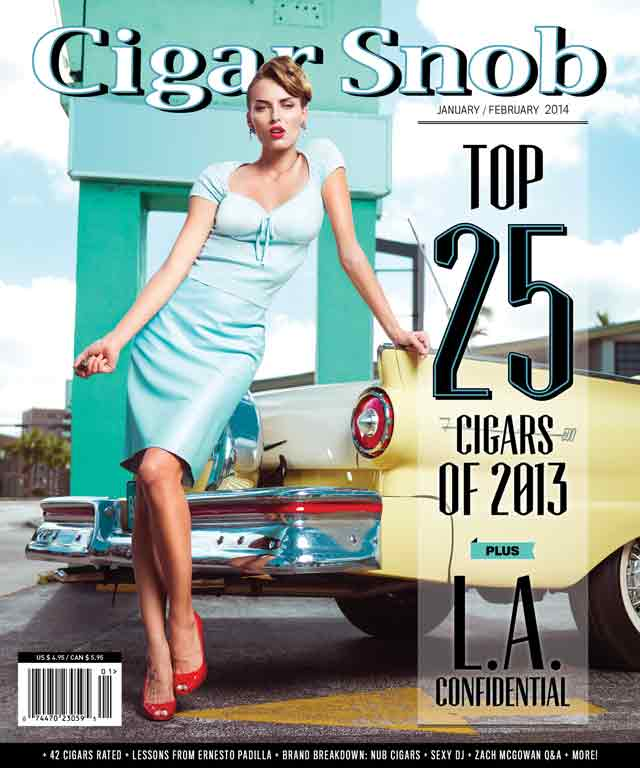 Cigar Snob Magazine January February 2014 cover