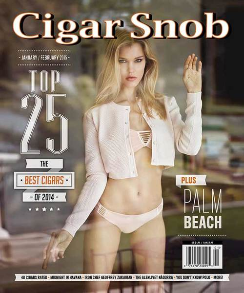 Cigar Snob Magazine January February 2015 cover