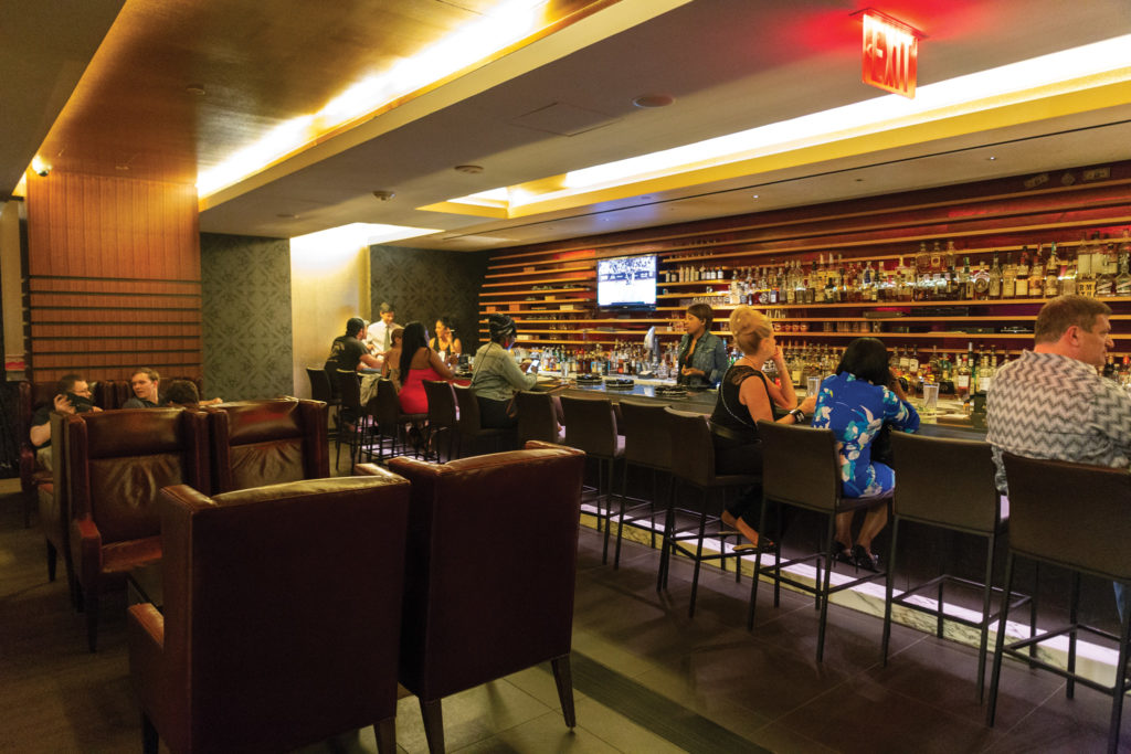 Civil Cigar Lounge, one of two places in D.C. proper where you can be served cigars, alcohol and food