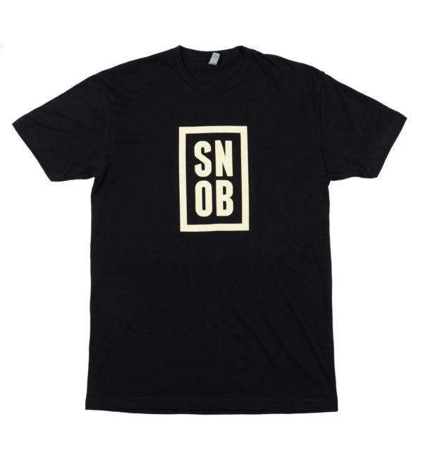 CigarSnob T-Shirt in Black - Front