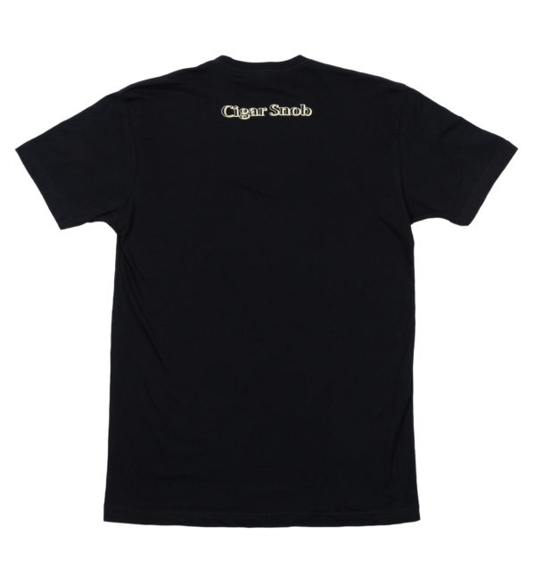 CigarSnob T-Shirt in Black - Back