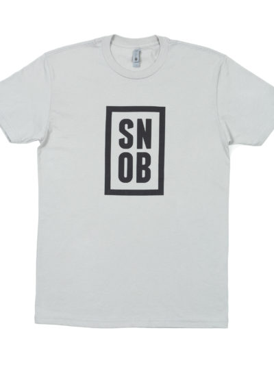 CigarSnob T-Shirt in Grey - Front