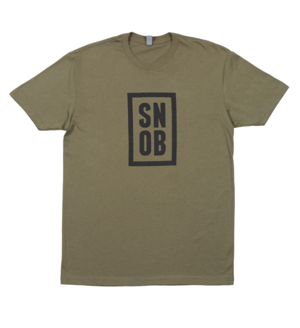 CigarSnob T-Shirt in Green - Front