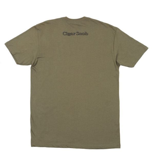CigarSnob T-Shirt in Green - Back