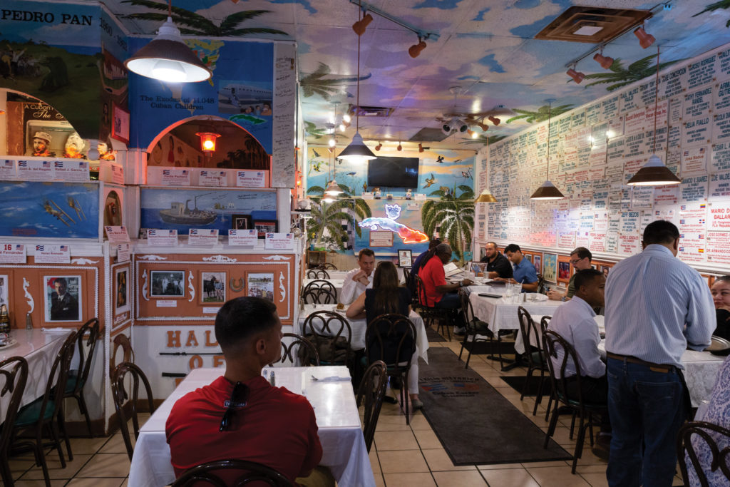 The Cuban Corner's over-the-top dining room in Rockville, Maryland
