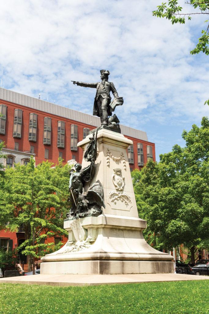 The General Rochambeau Statue at Lafayette Square