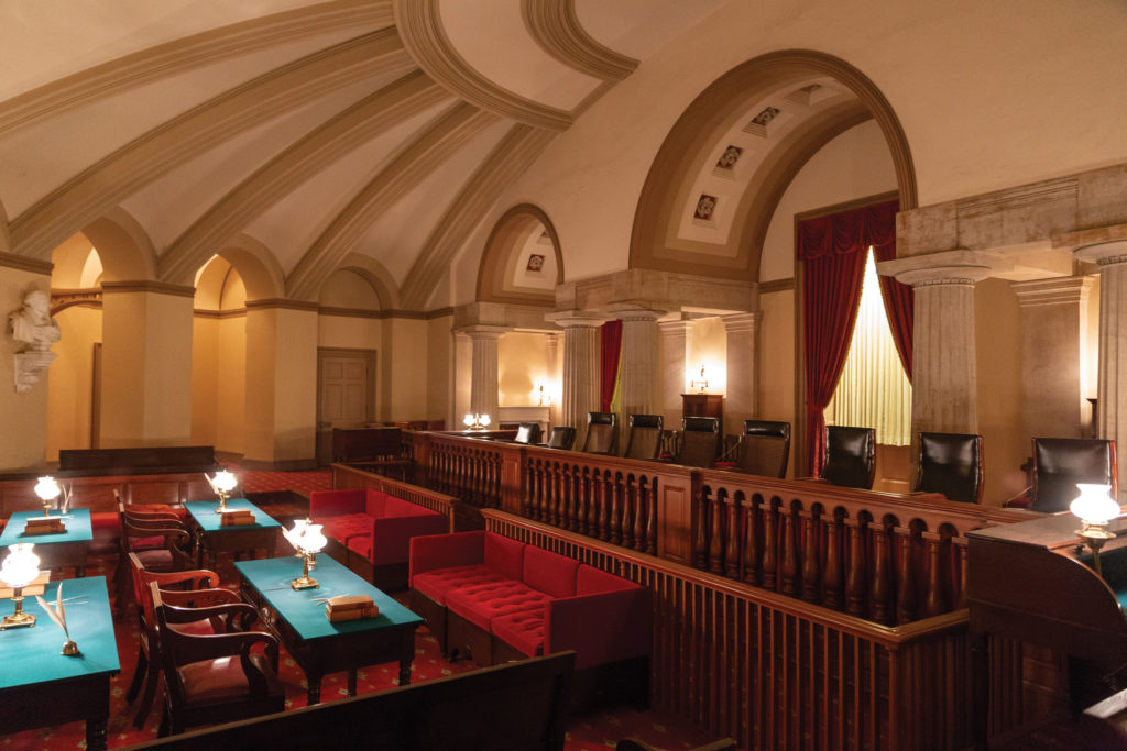The Old Supreme Court Chamber inside the U.S. Capitol.