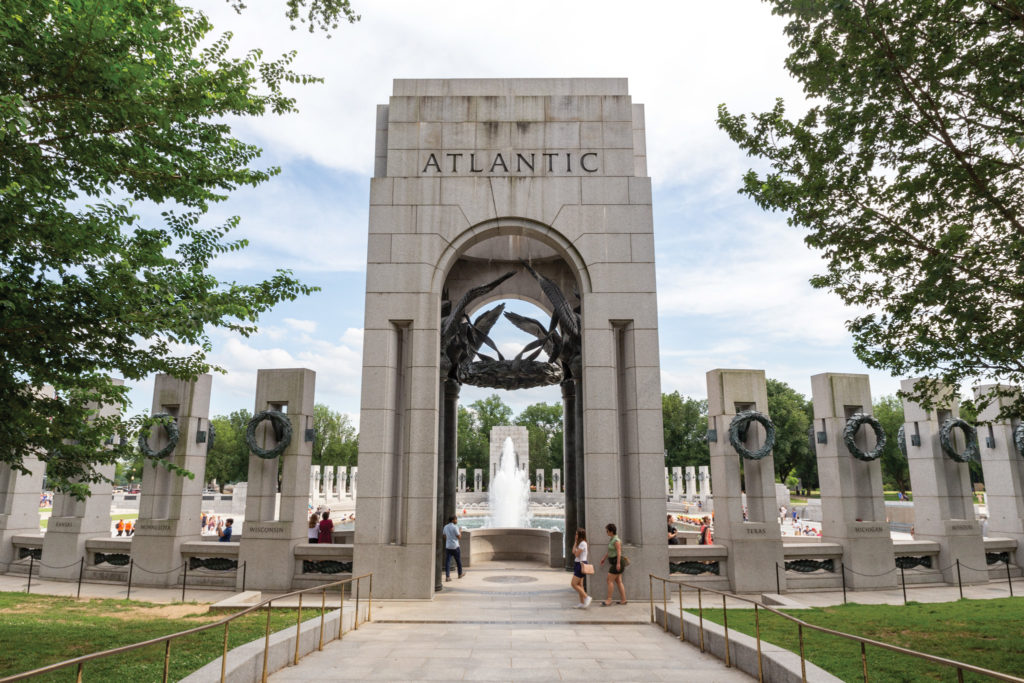 The World War II Memorial on the National Mall