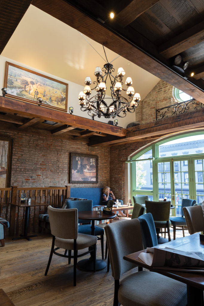 The upstairs dining room at PAUL in Georgetown
