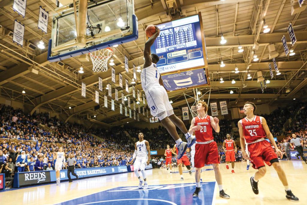Freshman phenom Zion Williamson takes flight