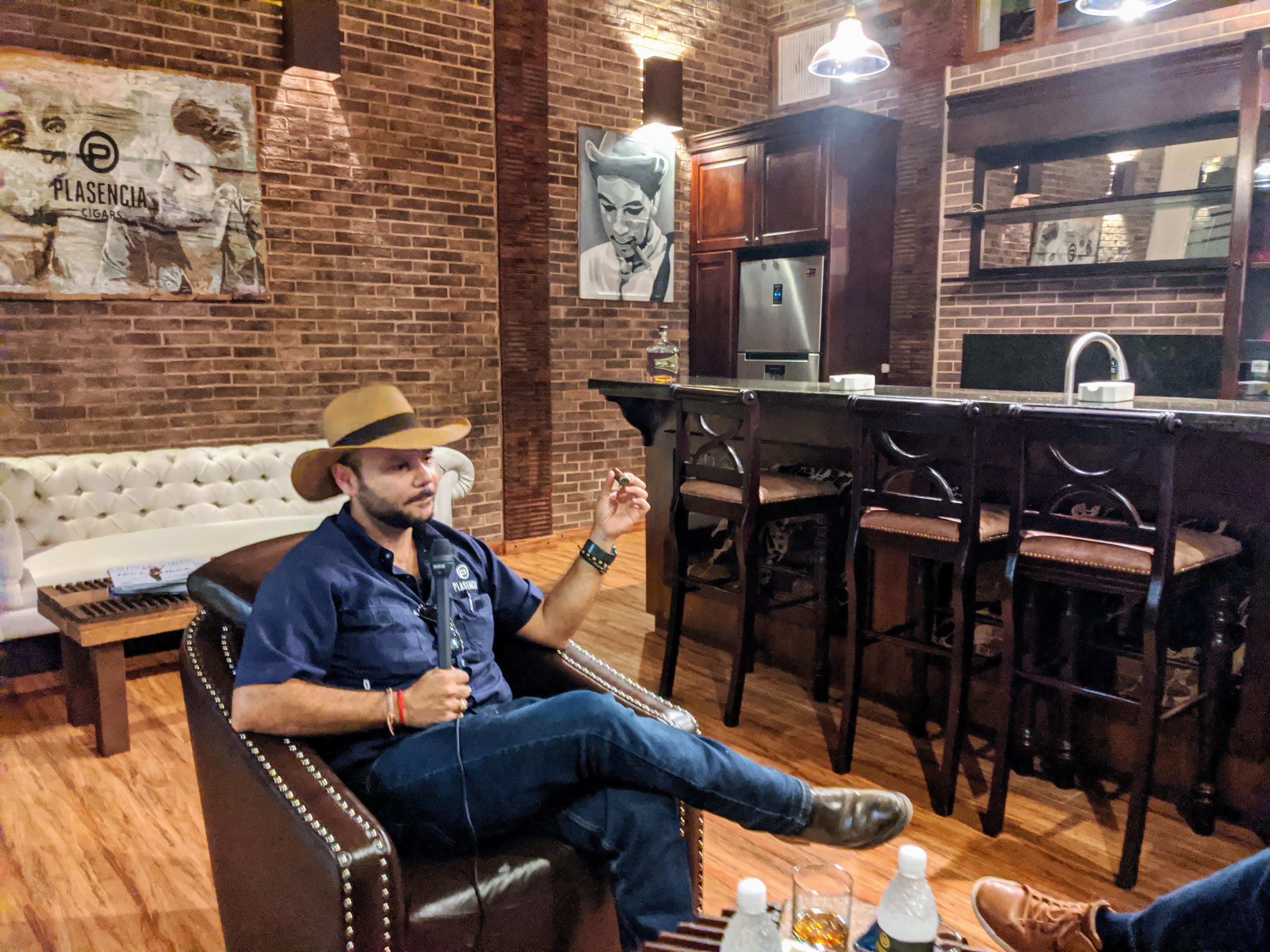 Nestor Andres Plasencia at the Plasencia Cigars factory in Estelí Nicaragua