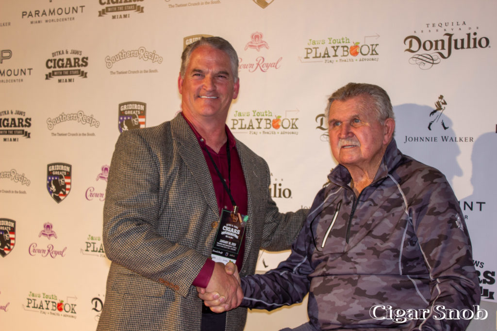 Ditka & Jaws Cigars with the Stars