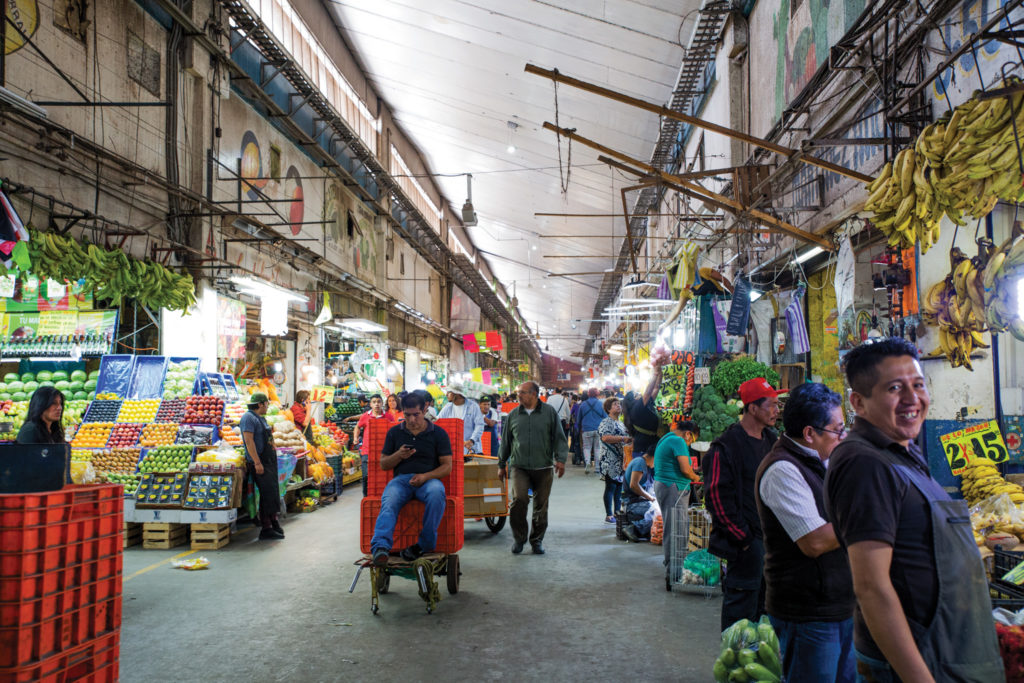 La Central de Abastos in Itzapalapa, the largest market of its kind in the world;
