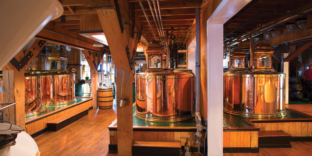 Over 100,000 visitors take tours through the working distillery each year. They get to see fermentation, distillation, and maturation before dipping their own bottle in hot red wax.  Maker's Mark Wood Finishing Series