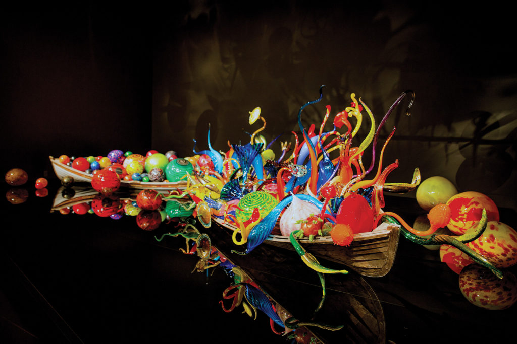 One of many works by Dale Chihuly at Chihuly Garden & Glass