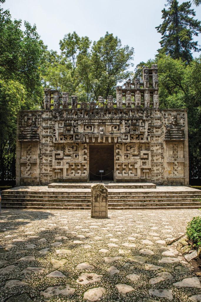 Replicas of ancient Meso-American temples at the Museo Nacional de Antropología