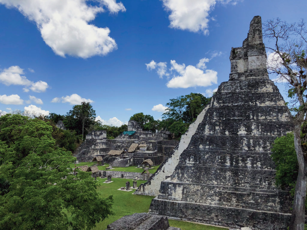 Tikal National Park was inscribed as a UNESCO World Heritage Sites for both biodoversity and man-made wonder.