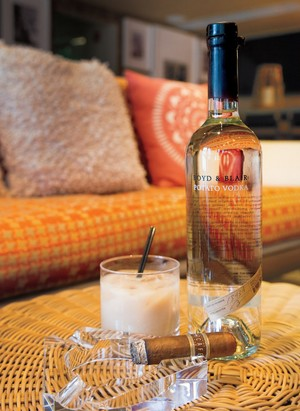 We made a White Russian with Boyd & Blair Potato Vodka, which is made in Pittsburgh with local potatoes. The dude abides.