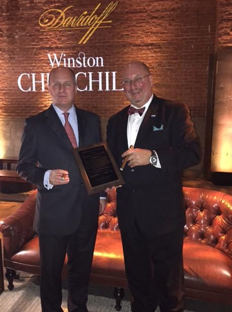 Randolph Churchill and CRA Executive Director Glynn Loope