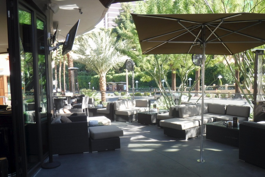 The patio area at Davidoff of Geneva Cigar Bar
