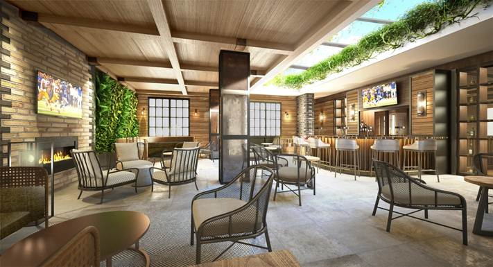 A mockup of the Courtyard area at the Montcristo Cigar Bar at Caesar's Palace  (Image: Caesar's Entertainment)