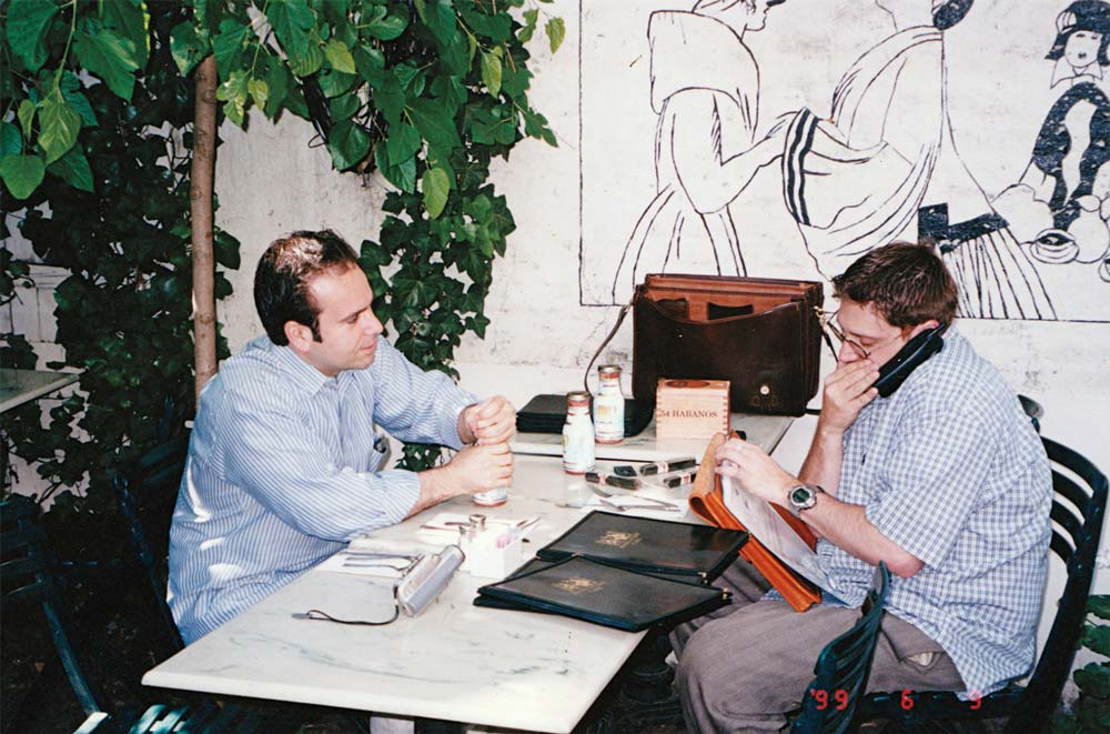 Young Marvin Samel and Jonathan Drew plotting during the early days of Drew Estate