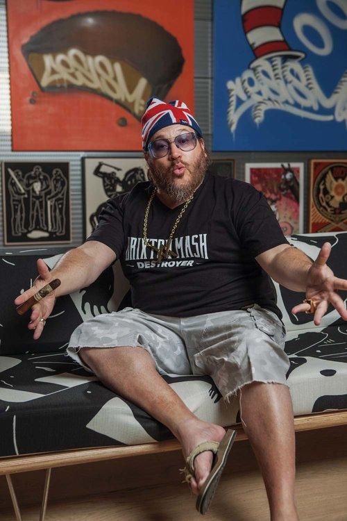 Jonathan Drew at his Miami home