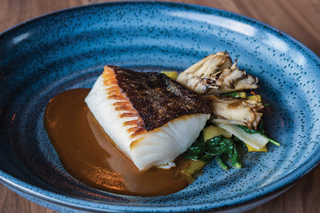 roasted black cod at Aerlume in downtown Seattle