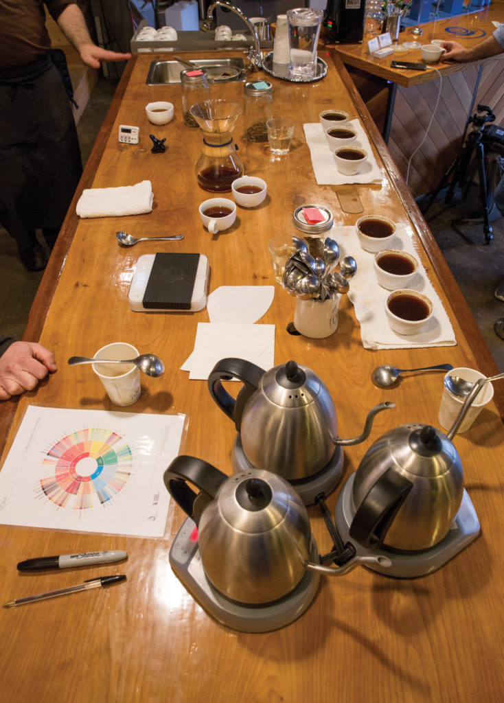 taking a deep dive with a cupping session at Conduit Coffee