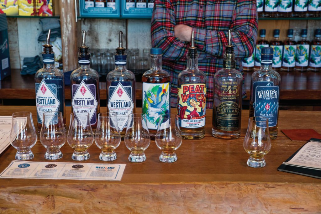 we tasted everything Westland Distillery had to offer ... twice